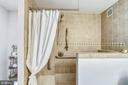 Beautifully tiled large shower. - 4141 N HENDERSON RD #1011, ARLINGTON