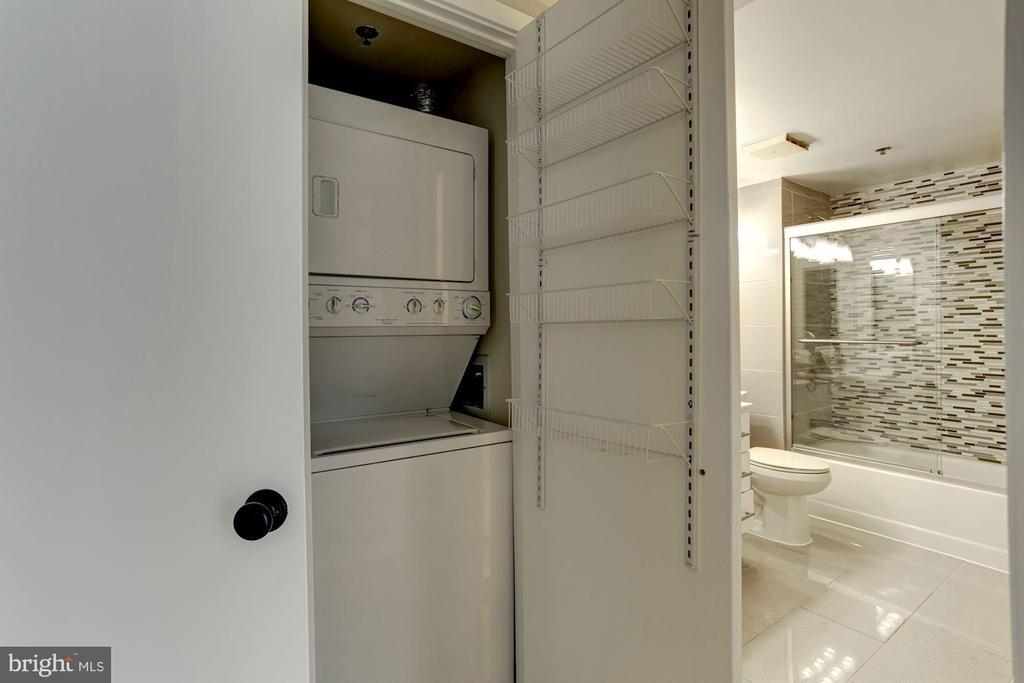 Laundry in unit. - 1275 25TH ST NW #808, WASHINGTON