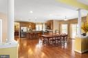 Kitchen with gorgeous hardwood floors - 8108 SPRUCE VALLEY LN, CLIFTON