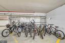 Bicycle storage area in the garage. - 4141 N HENDERSON RD #1011, ARLINGTON