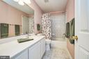 Upper level hall bath - 5947 TUMBLE CREEK CT, HAYMARKET