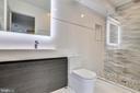Master bath - 1466 HARVARD ST NW #A-1, WASHINGTON