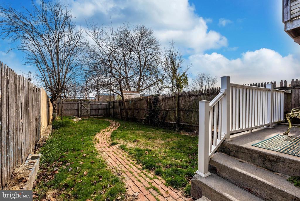 View of Fenced Backyard - 10 N WISNER ST, FREDERICK