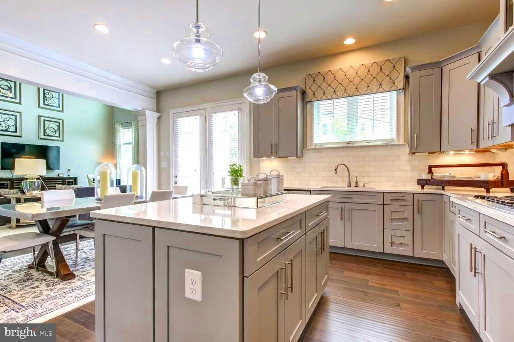 View from marble-topped gourmet kitchen island - 2327 DALE DR, FALLS CHURCH
