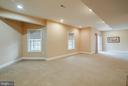 BASEMENT EXERCISE ROOM OR CHILDS PLAY ROOM - 5014 QUELL CT, WOODBRIDGE