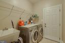 MAIN LEVEL LAUNDRY ROOM, FRONT LOAD WASHER AND DRY - 5014 QUELL CT, WOODBRIDGE