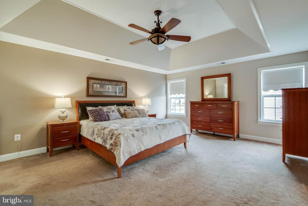 LUXURY MASTER SUITE WITH TRAY CEILING - 5014 QUELL CT, WOODBRIDGE
