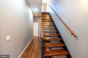 Open Concept Modern Staircase w/ Iron Railing - 1739 ALICEANNA ST, BALTIMORE