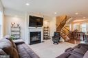 FAMILY ROOM W/ GAS FIREPLACE - 6963 COUNTRY CLUB TER, NEW MARKET