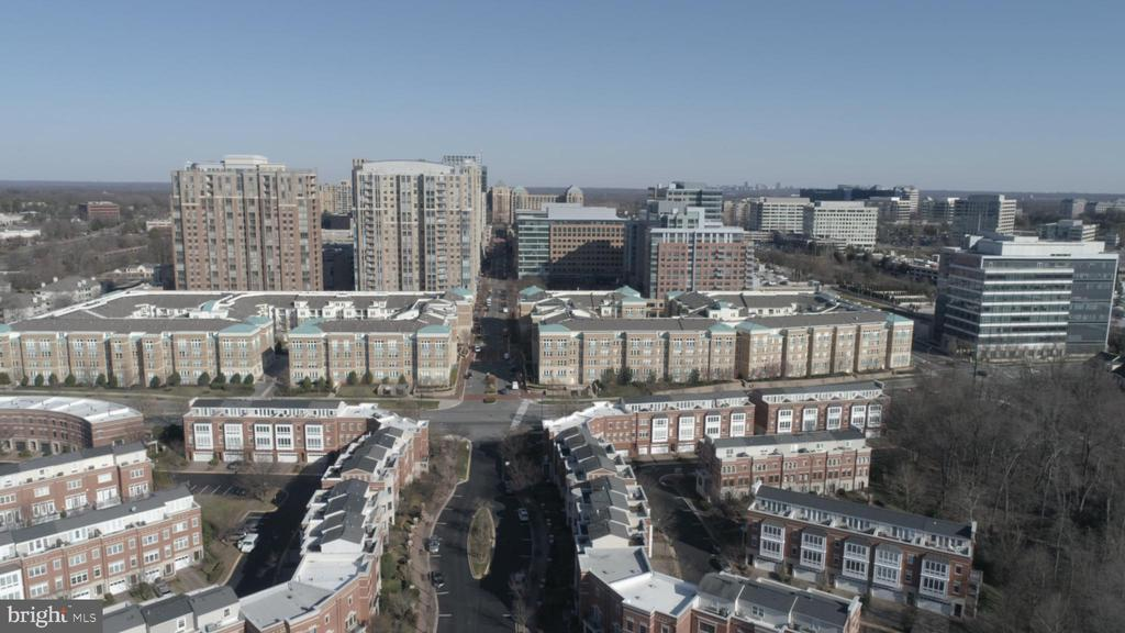 aerial view of West Mark and Reston Town Center - 1911 LOGAN MANOR DR, RESTON