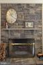 Family room wood burning fireplace - 16080 GOLD CUP LN, PAEONIAN SPRINGS