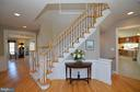 Staircase to upper level - 16080 GOLD CUP LN, PAEONIAN SPRINGS