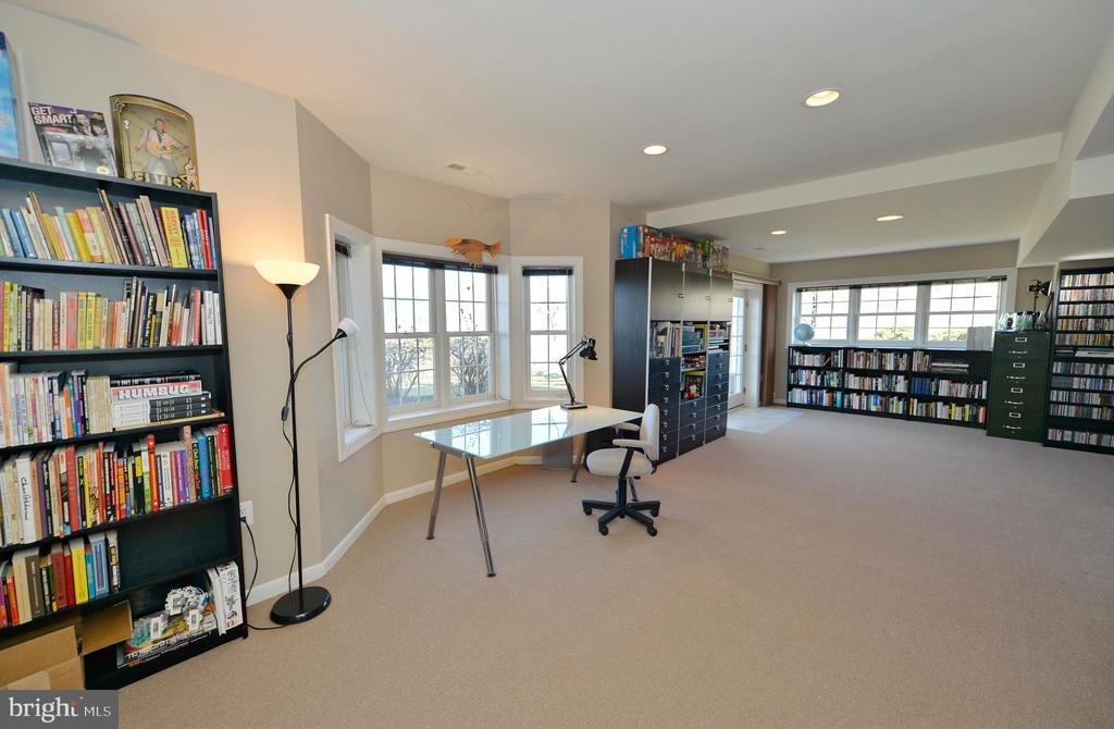 Lower level recreation room with bay bump-out - 16080 GOLD CUP LN, PAEONIAN SPRINGS