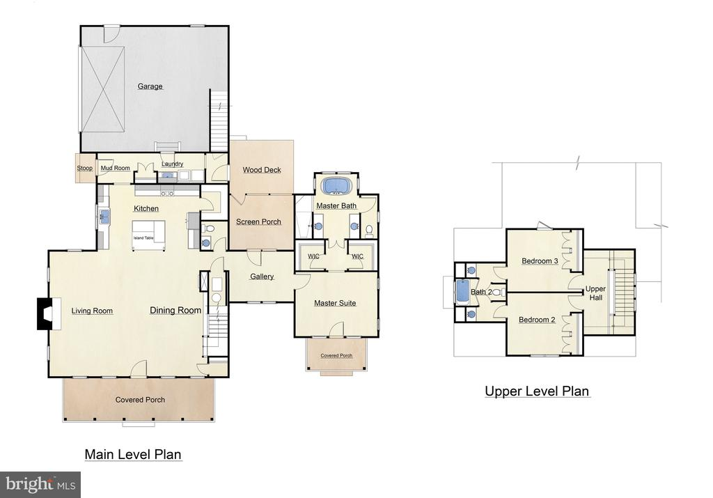1ST AND 2ND FLOOR PLANS - TO BE BUILT CONSTRUCTION - 3200 LAKEVIEW PKWY, LOCUST GROVE