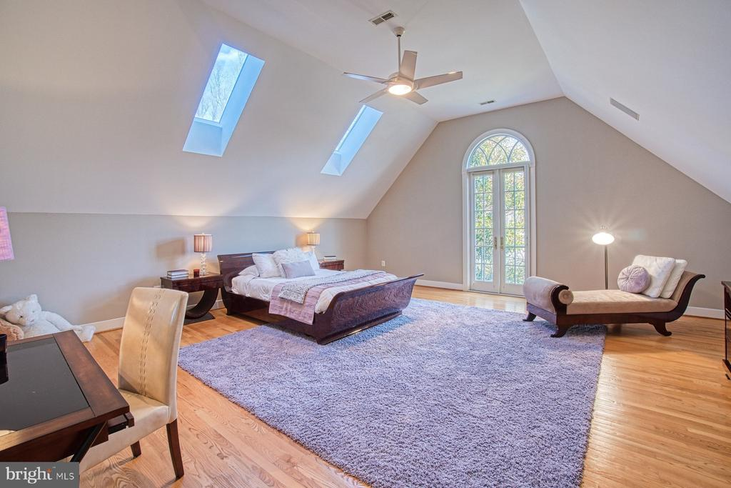 Bedroom 4 with skylights & Juliet balcony - 40310 HURLEY LN, PAEONIAN SPRINGS