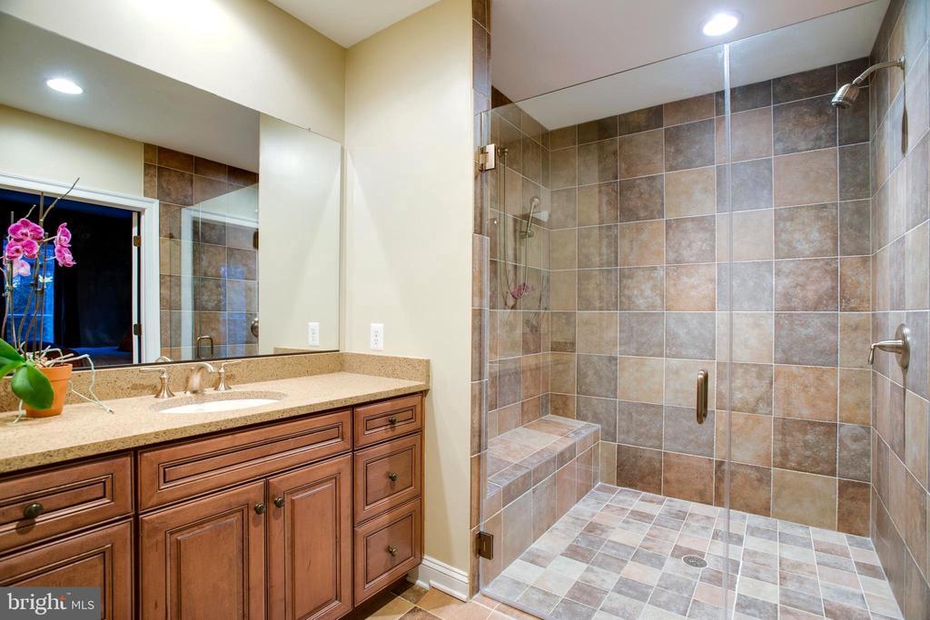Main Level Master-Guest Bathroom. Wheelchair Ease - 9110 DARA LN, GREAT FALLS