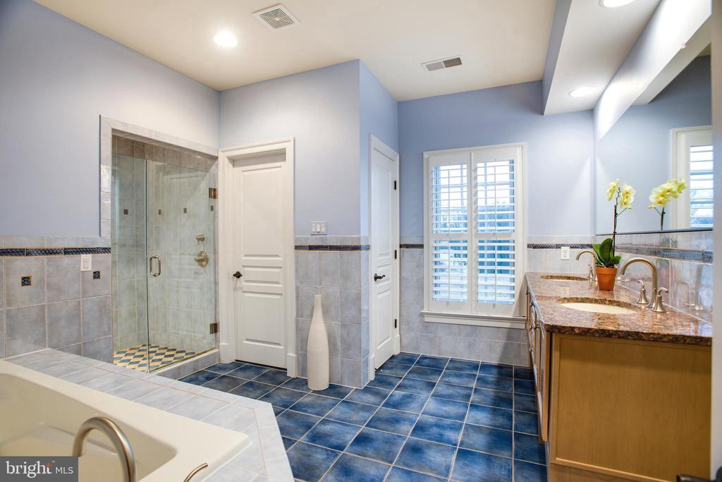Full Bathroom with Whirlpool Tub and Shower - 9110 DARA LN, GREAT FALLS