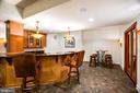 Custom Bar and Wine Tasting at Cellar Entrance - 9110 DARA LN, GREAT FALLS