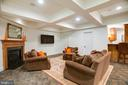 Lower Level Media, Gas Fireplace, Coffered Ceiling - 9110 DARA LN, GREAT FALLS