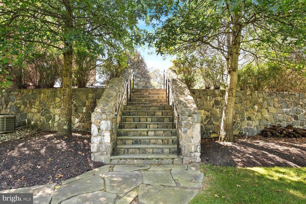 Custom Stone Stairway from Motorcourt to Back - 9110 DARA LN, GREAT FALLS