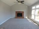 FIRS FLOOR FAMILY ROOM WITH BRICK WOOD BURNING FP - 43 JASON LN, STAFFORD