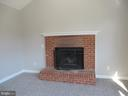 BRICK WOOD BURNING FIREPLACE IN FR - 43 JASON LN, STAFFORD