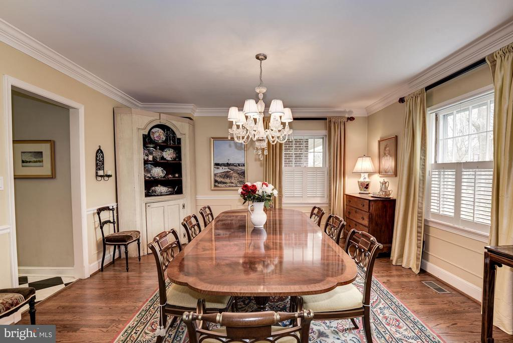 Spacious Formal Dining Room - 7600 GLENDALE RD, CHEVY CHASE