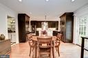 Spacious Breakfast Area - 7600 GLENDALE RD, CHEVY CHASE