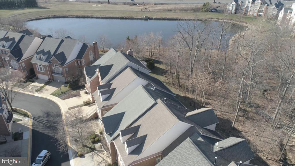 Aerial view from home of pond - 1911 LOGAN MANOR DR, RESTON