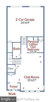 Floor Plan, Level 1 - 44665 BRUSHTON TER, ASHBURN