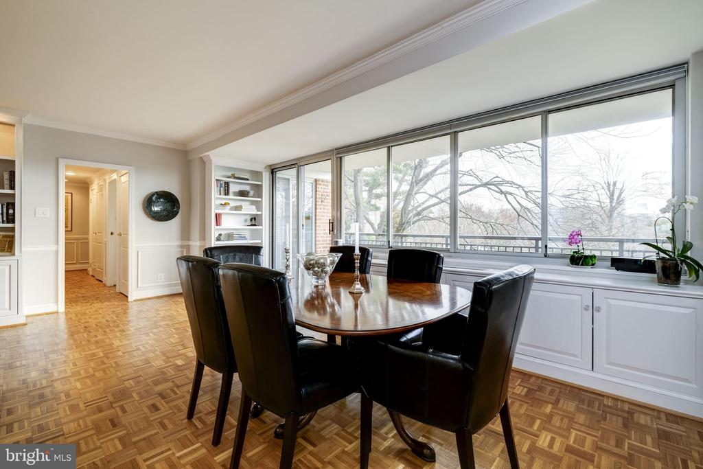 Dining area with Cathedral views - 3900 WATSON PL NW #A-2FG, WASHINGTON