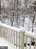 deck view in winter - 1911 LOGAN MANOR DR, RESTON
