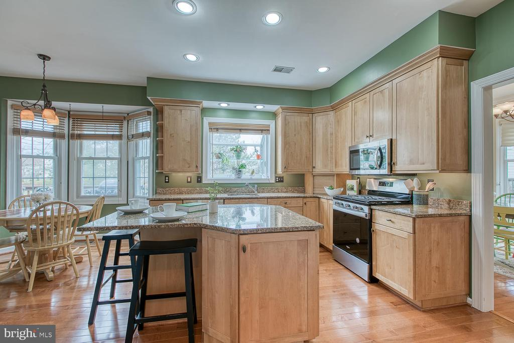 Open concept eat-in kitchen - 43976 BRUCETON MILLS CIR, ASHBURN