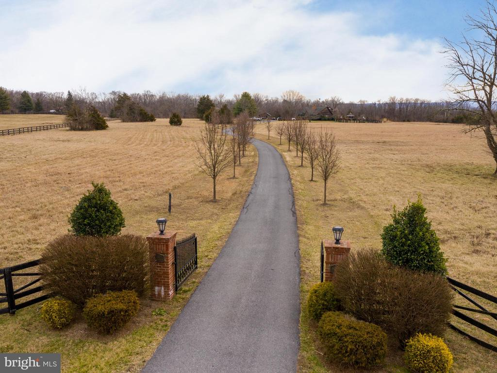 Gated Entrance lined with Pear Trees - 2327 GUN BARREL RD, WHITE POST