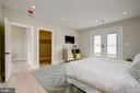 French doors that lead out to a huge roof deck - 1821 I STREET NE #11, WASHINGTON