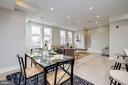 Separate dining area and open living space - 1821 I STREET NE #11, WASHINGTON