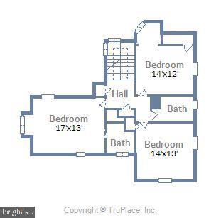 Upper 1 level floor plan - 212 GOODALE RD, BALTIMORE