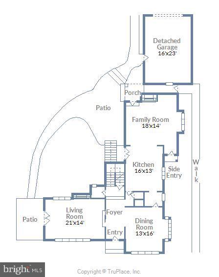 Main level floor plan - 212 GOODALE RD, BALTIMORE