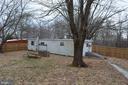 From inside back yard, rear of dwelling - 5420 BURKITTSVILLE RD, JEFFERSON