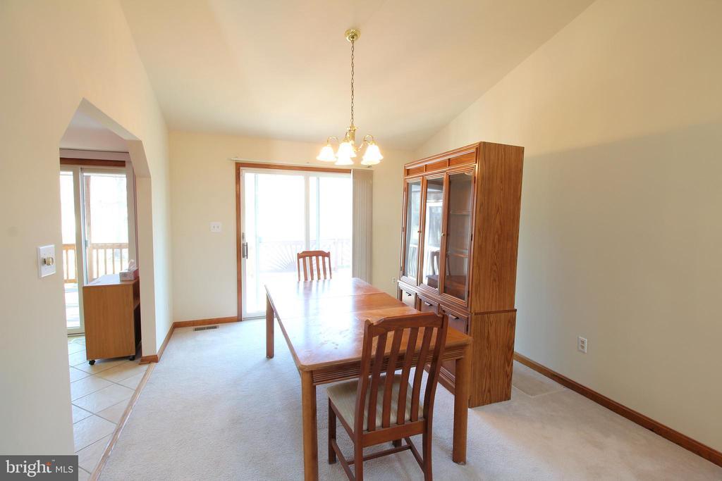Dining Room  - Patio Doors to Deck - 117 GREEN ST, LOCUST GROVE
