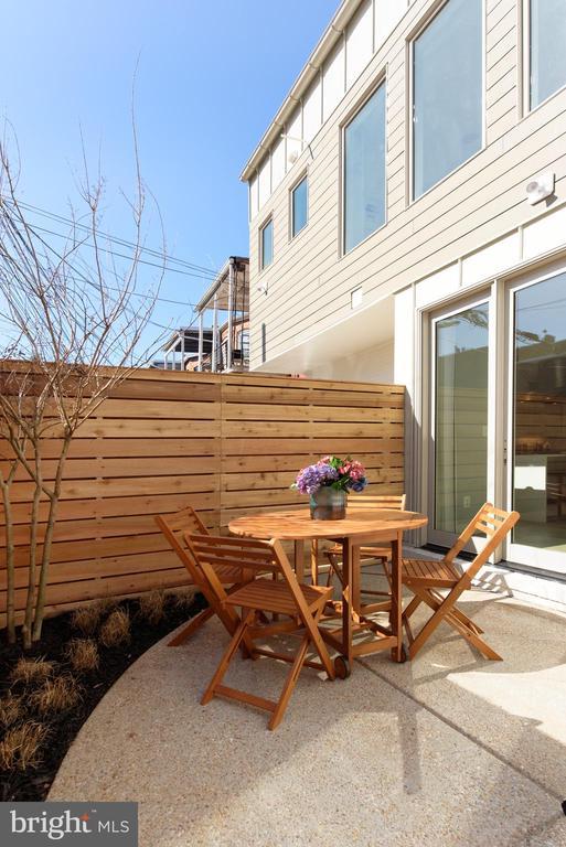 Private rear patio w sea grasses and crape myrtle - 1015 D ST NE #2, WASHINGTON