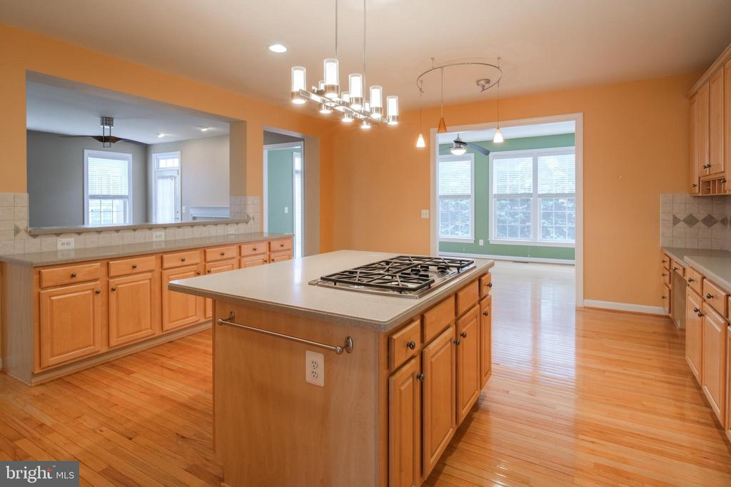 Kitchen with corian counter tops - 13299 SCOTCH RUN CT, CENTREVILLE