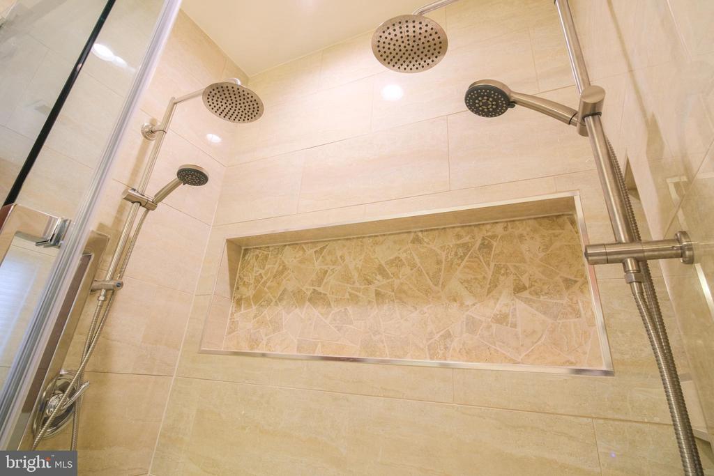 Master Bathroom renovated shower - 13299 SCOTCH RUN CT, CENTREVILLE