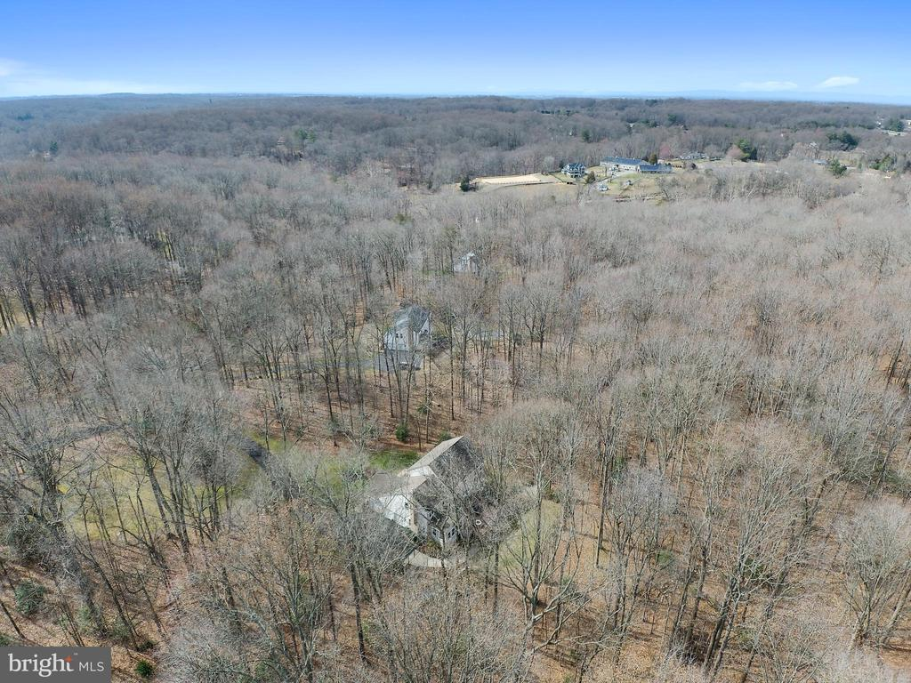Aerial of the rear - 12400 FAIRFAX STATION RD, CLIFTON