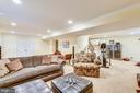 Huge entertaining space on the lower level - 12400 FAIRFAX STATION RD, CLIFTON