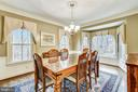 Dining room with a walk in bay window - 12400 FAIRFAX STATION RD, CLIFTON