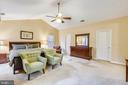 Master bedroom with vaulted ceilings - 12400 FAIRFAX STATION RD, CLIFTON