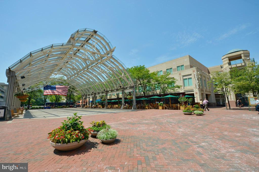 ICONIC SUMMER-TIME VIEW OF THE RESTON TOWN CENTER - 12025 NEW DOMINION PKWY #504, RESTON