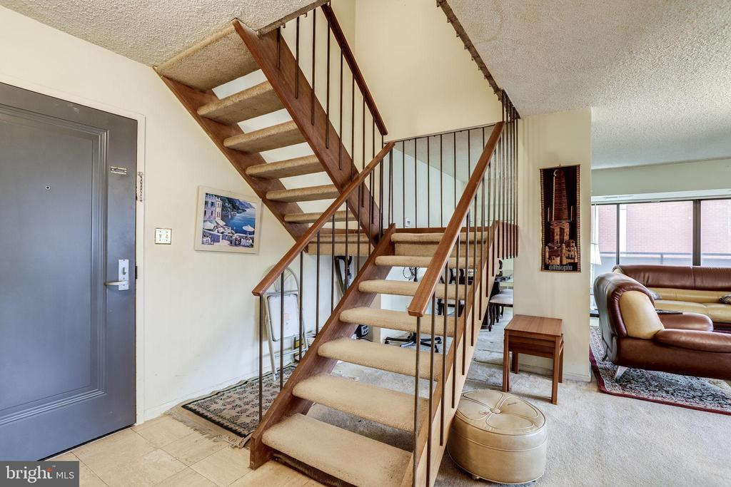 stairs to upstairs bedroom - 5300 COLUMBIA PIKE #315, ARLINGTON