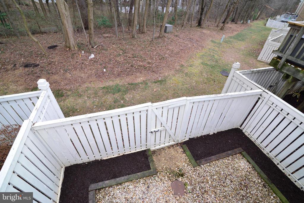 Yard View from Deck - 1485 AUTUMN RIDGE CIR, RESTON